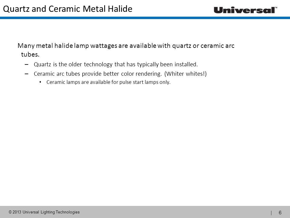 Quartz and Ceramic Metal Halide