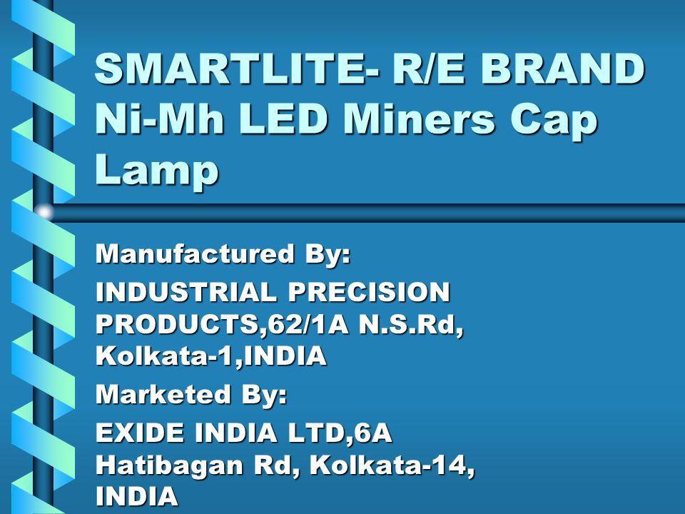 SMARTLITE- R/E BRAND Ni-Mh LED Miners Cap Lamp