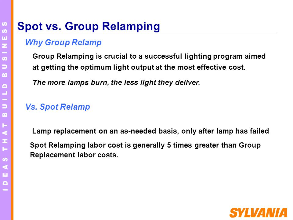 Spot vs. Group Relamping