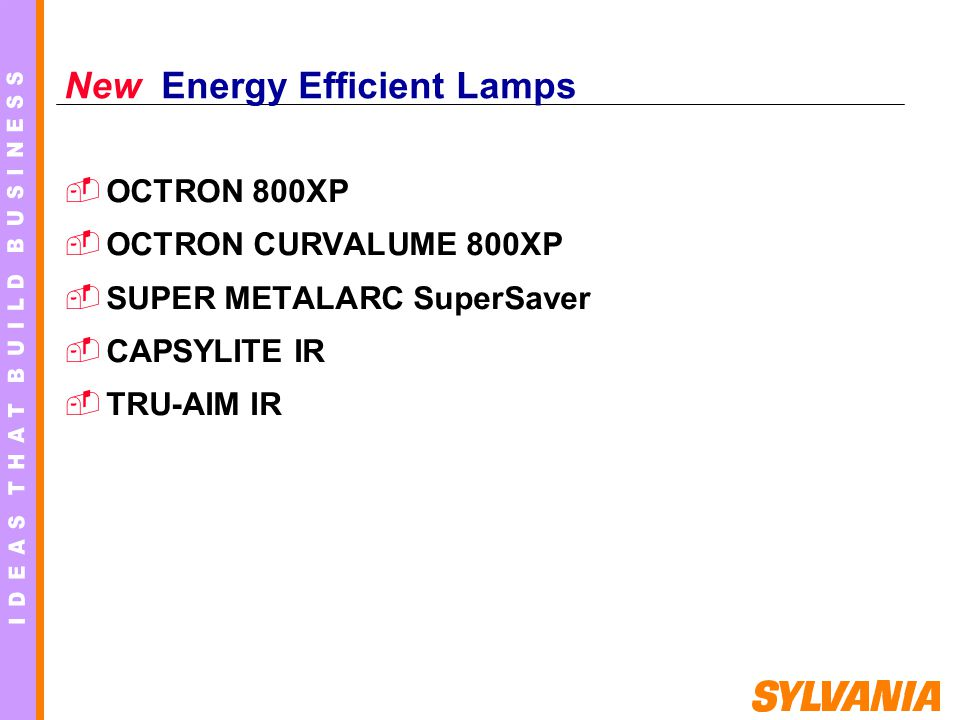 New Energy Efficient Lamps