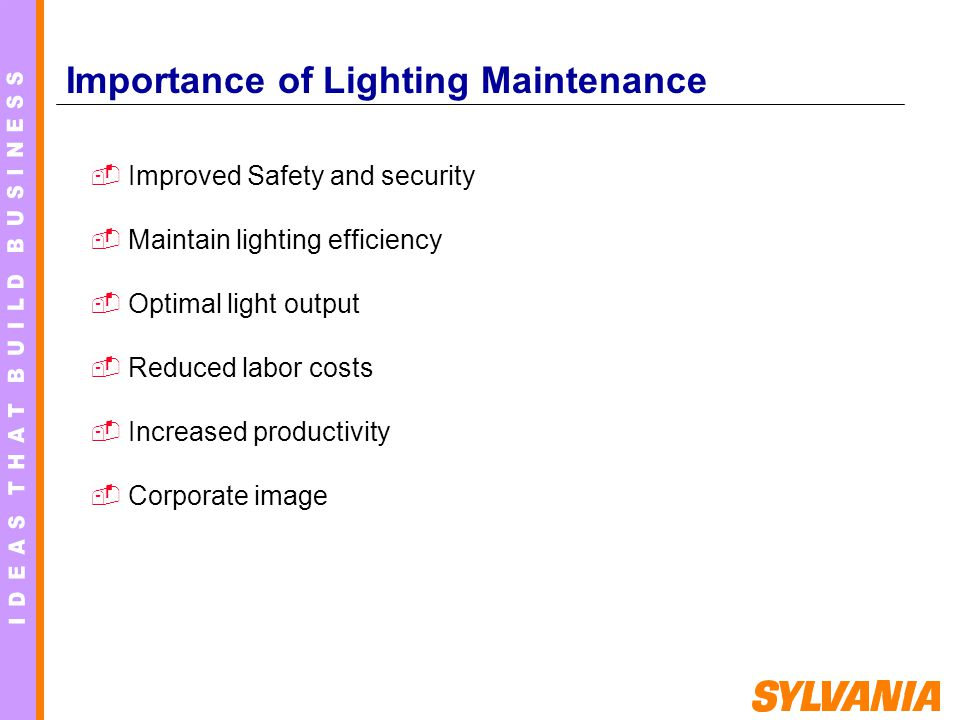 Importance of Lighting Maintenance