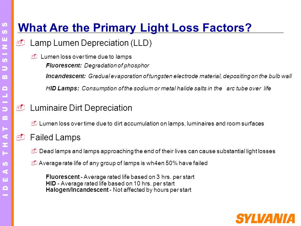 What Are the Primary Light Loss Factors