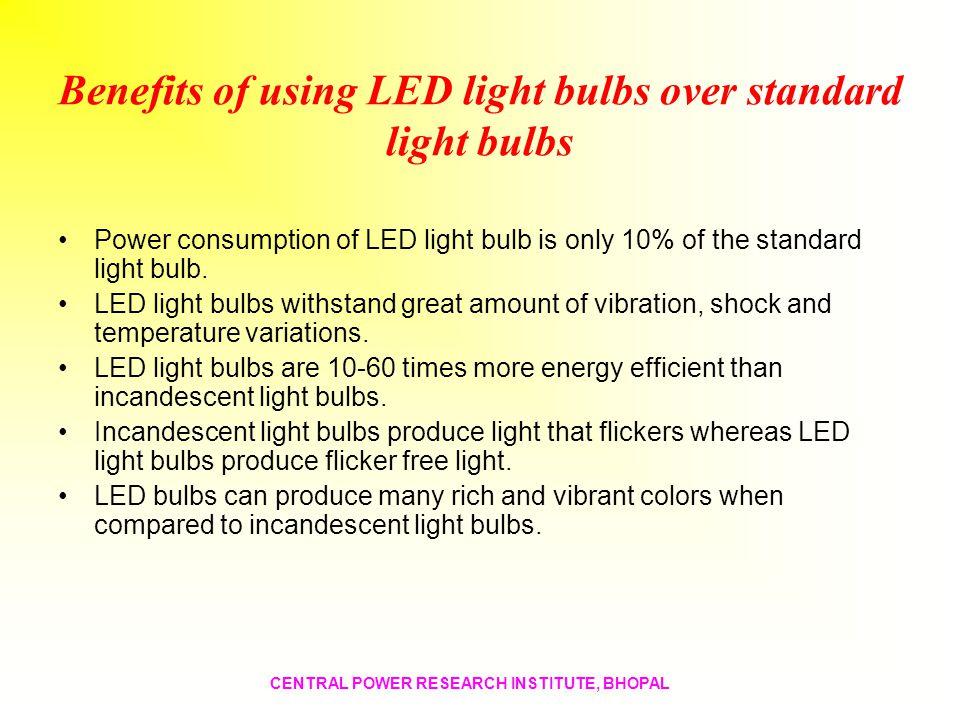 Benefits of using LED light bulbs over standard light bulbs