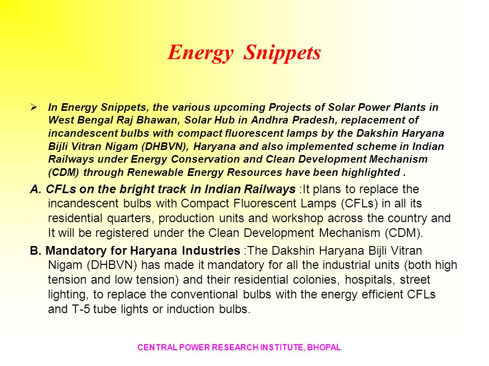 Energy Snippets