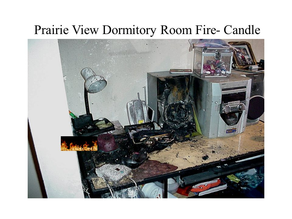 Prairie View Dormitory Room Fire- Candle