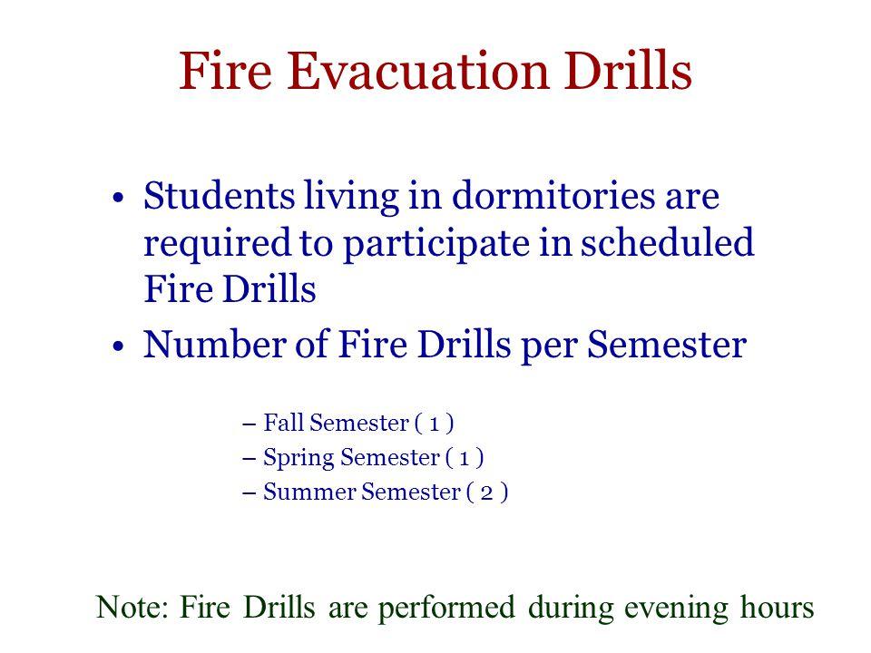 Fire Evacuation Drills