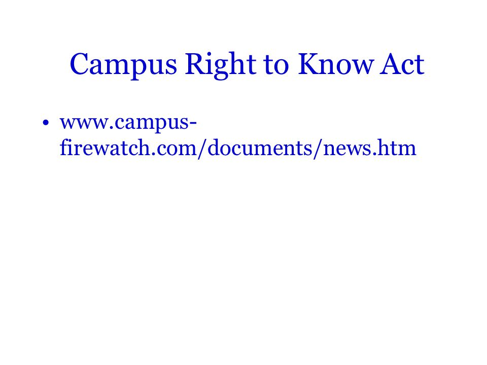 Campus Right to Know Act