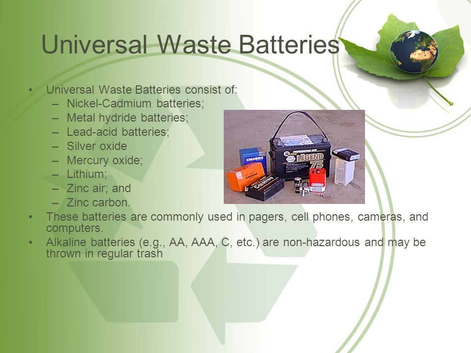 Universal Waste Batteries