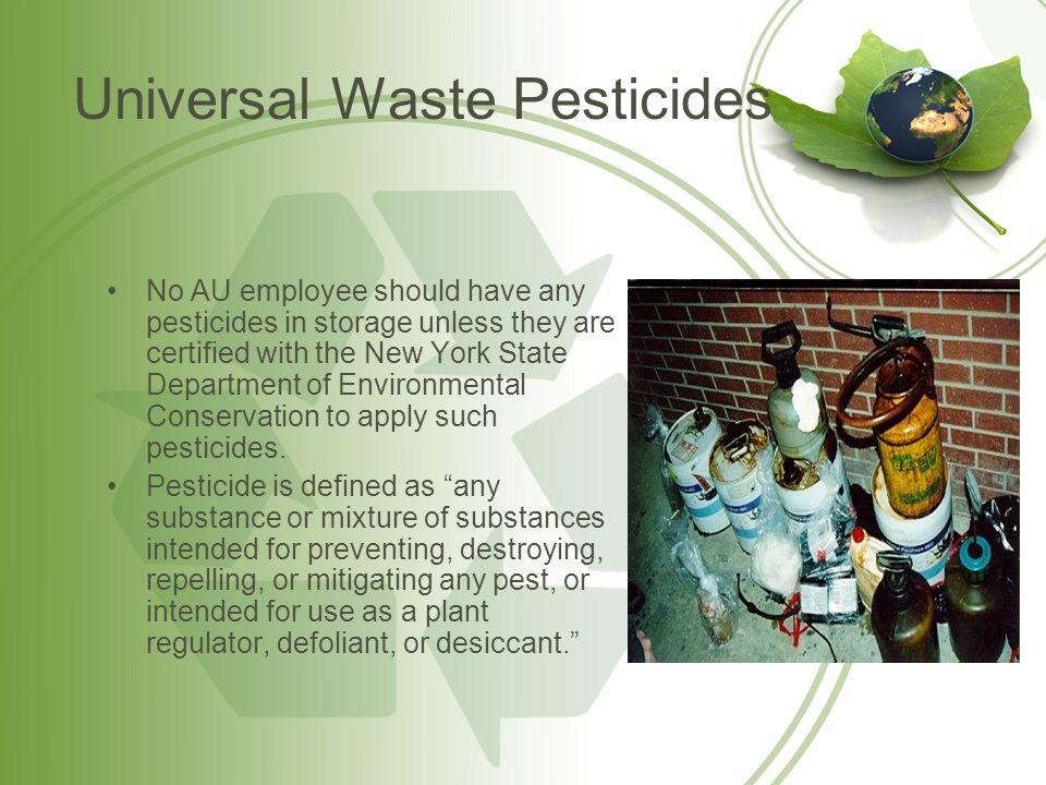 Universal Waste Pesticides
