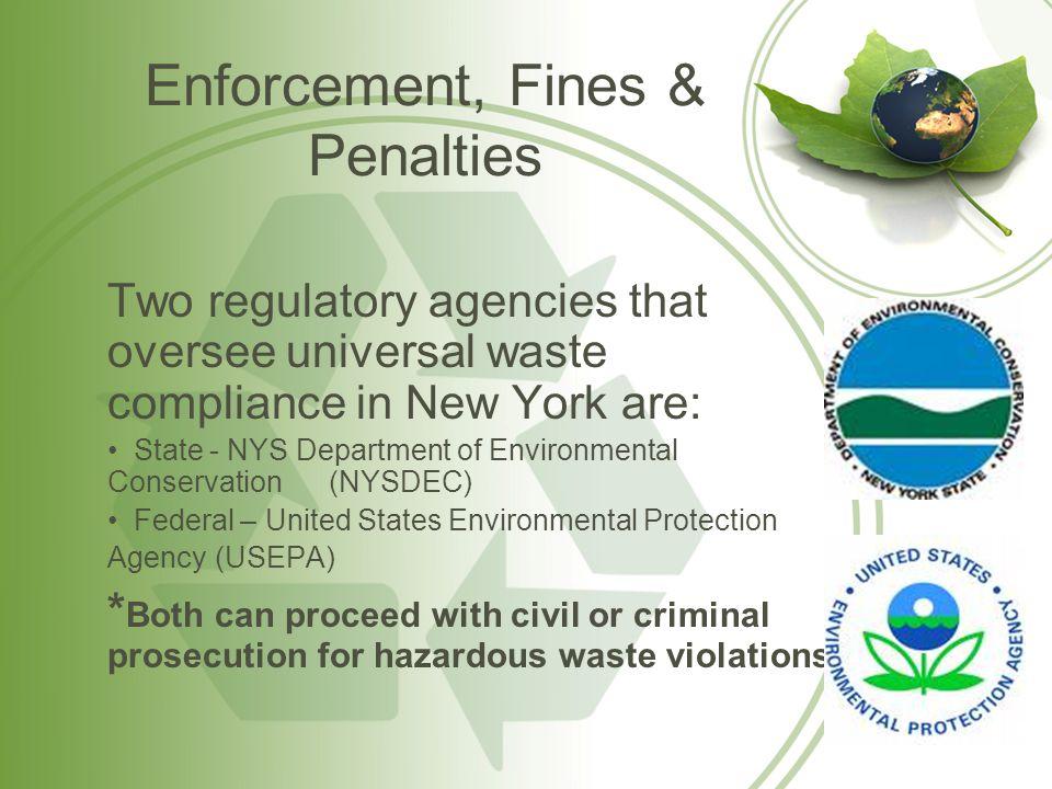 Enforcement, Fines & Penalties
