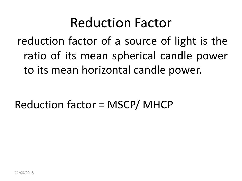 Reduction Factor