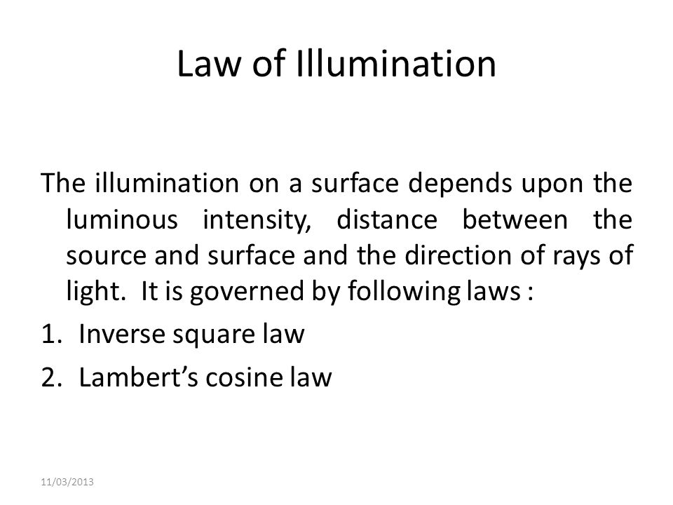 Law of Illumination