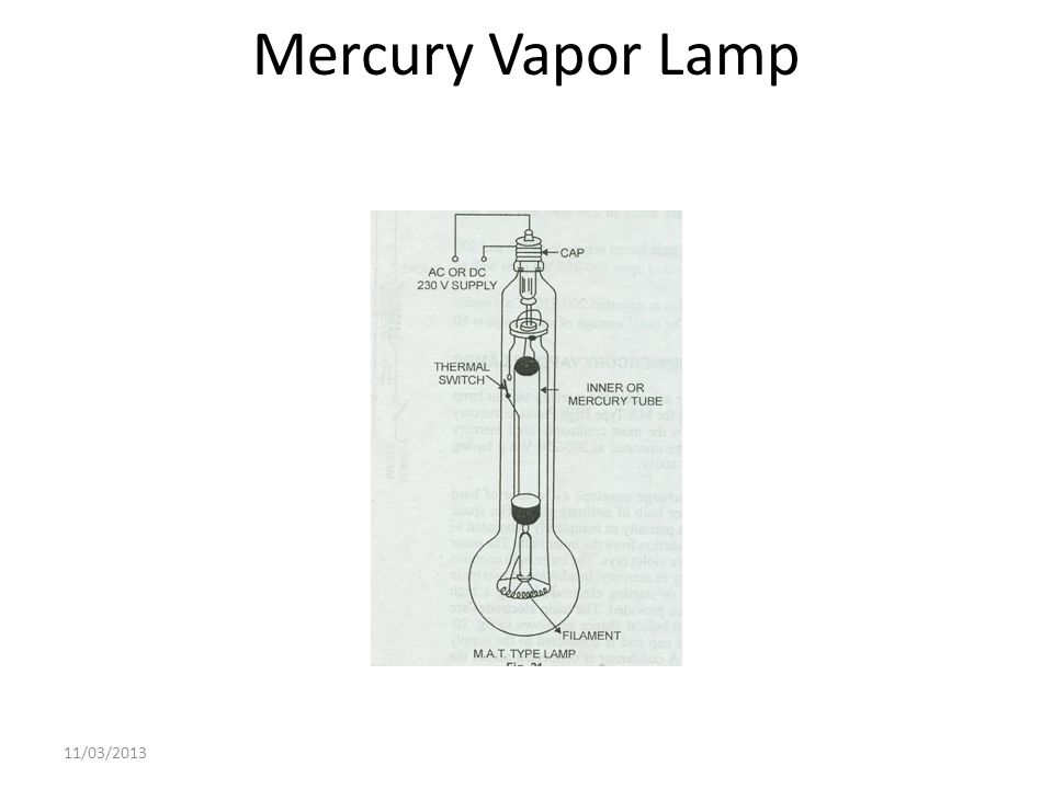 Mercury Vapor Lamp 11/03/2013