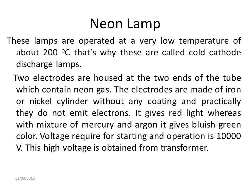 Neon Lamp