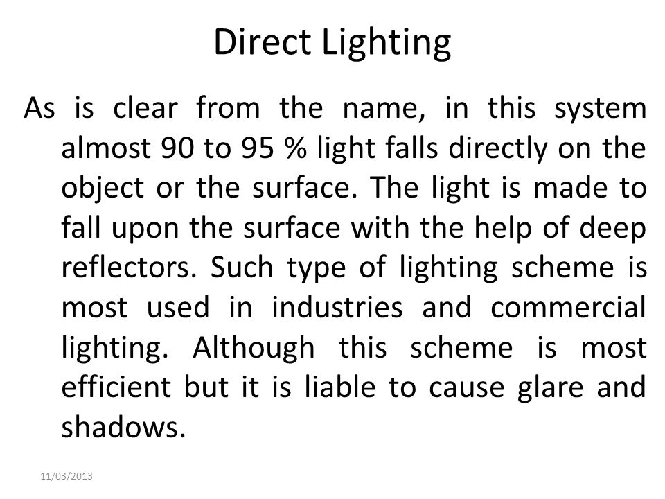 Direct Lighting