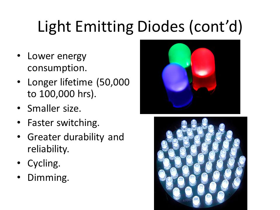 Light Emitting Diodes (cont'd)