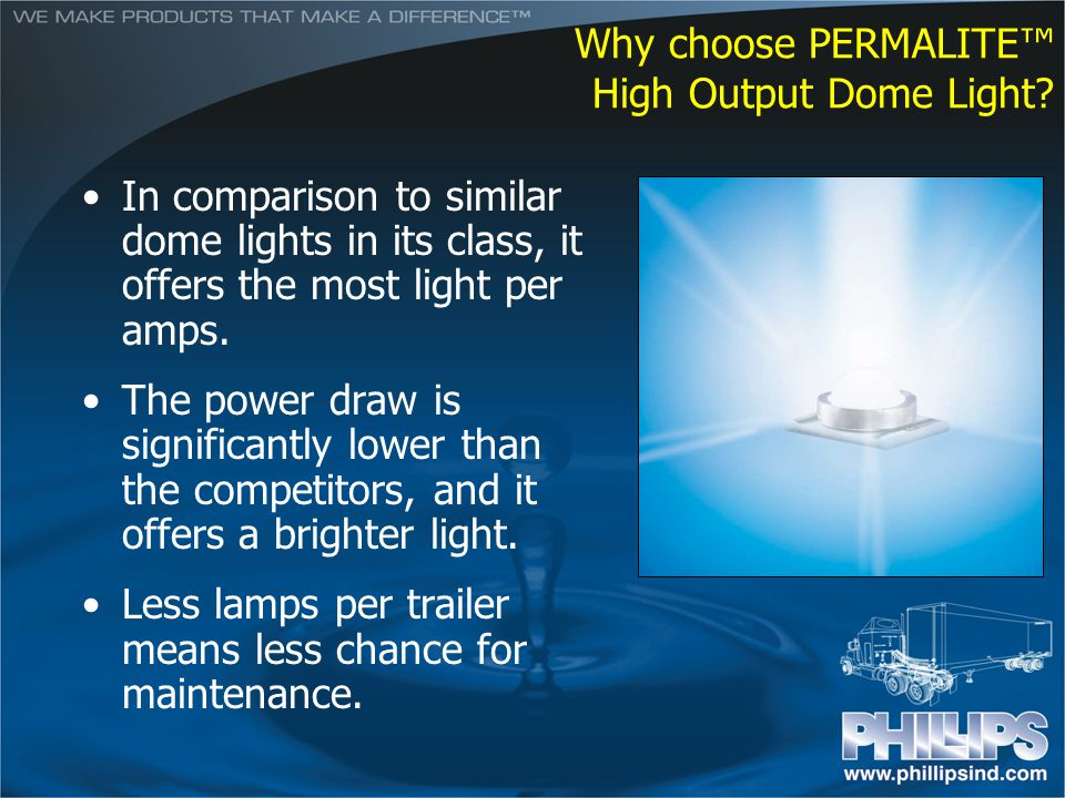 Why choose PERMALITE™ High Output Dome Light