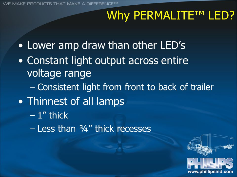 Why PERMALITE™ LED Lower amp draw than other LED's