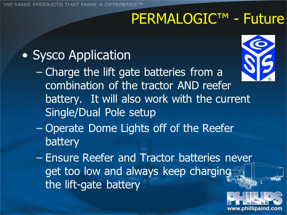 PERMALOGIC™ - Future Sysco Application