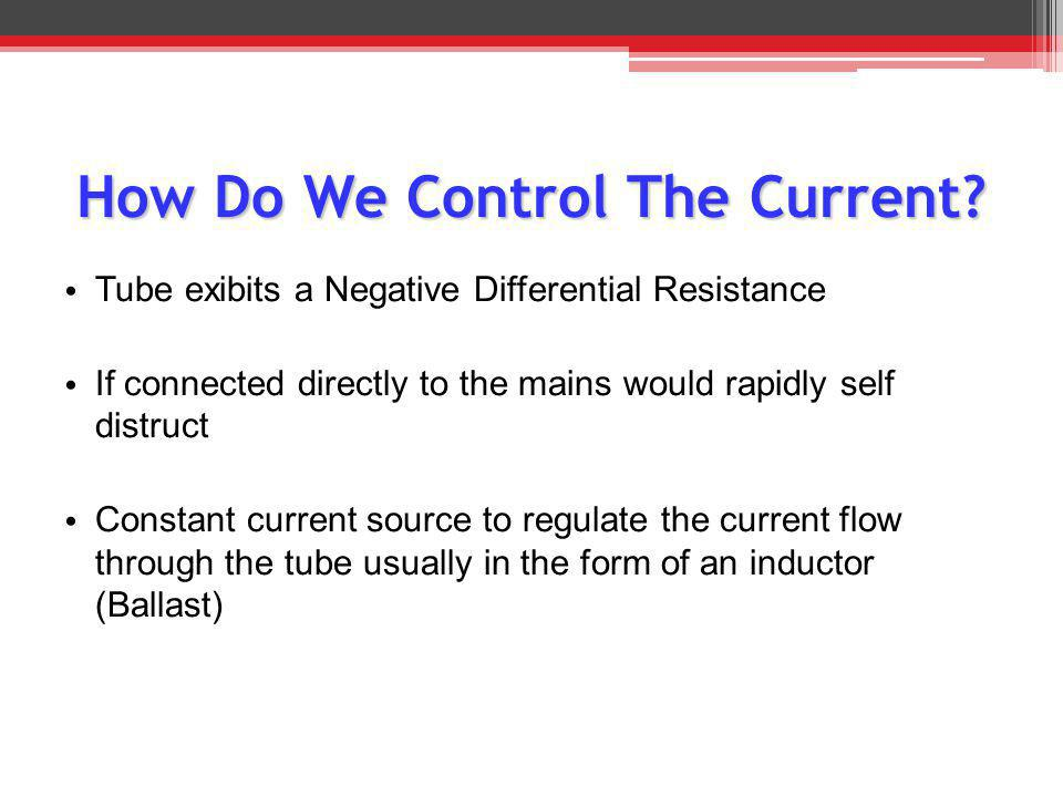 How Do We Control The Current