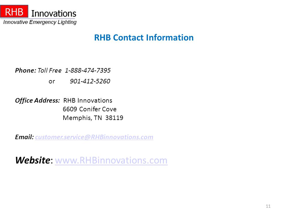 Website: www.RHBinnovations.com