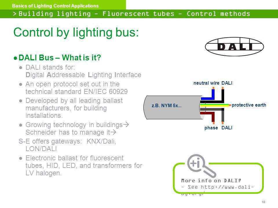 Control by lighting bus: