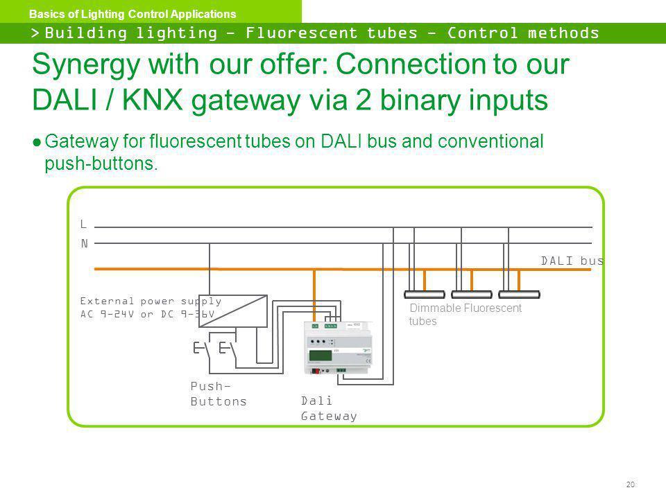 > Building lighting - Fluorescent tubes - Control methods