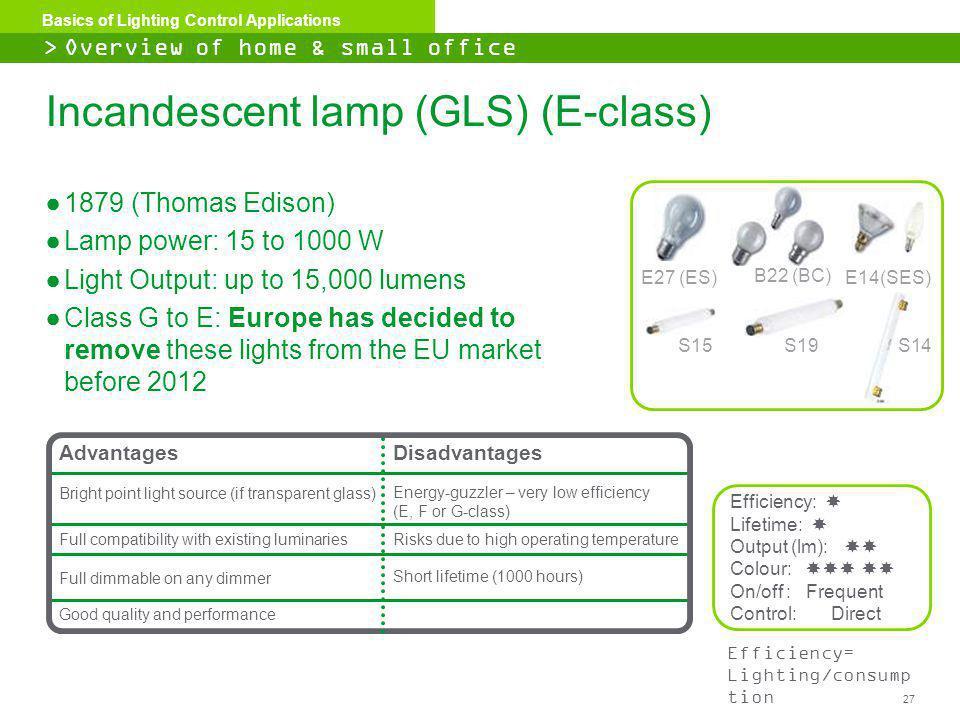 Incandescent Lamp (GLS) (E Class)