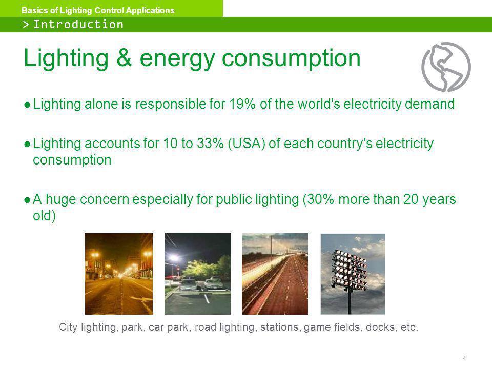 Lighting & energy consumption