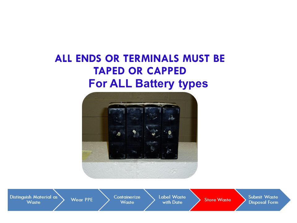 ALL ENDS OR TERMINALS MUST BE TAPED OR CAPPED