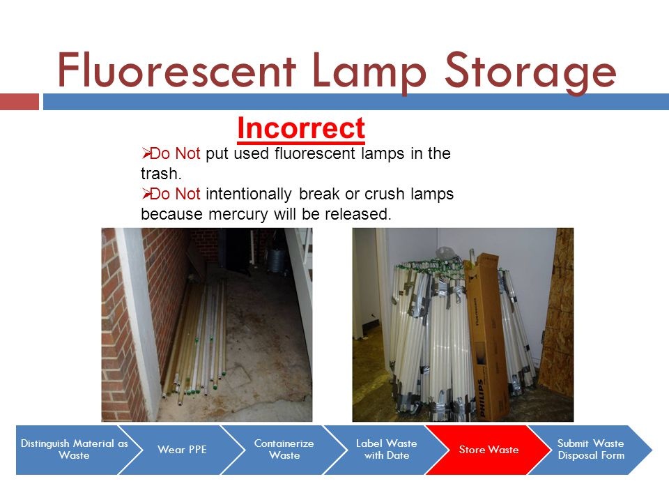 Fluorescent Lamp Storage