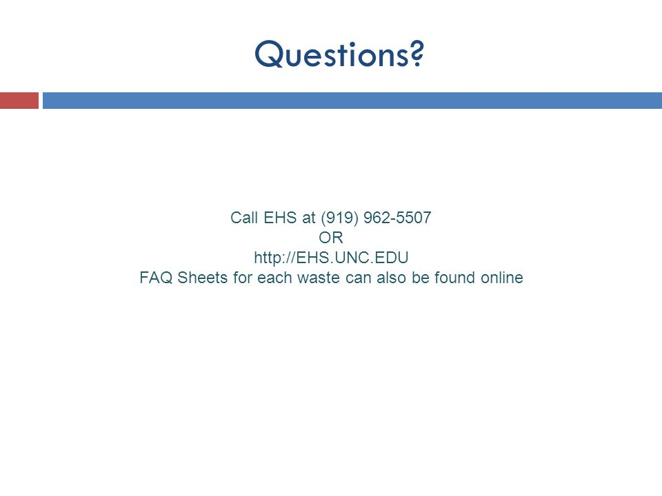 FAQ Sheets for each waste can also be found online