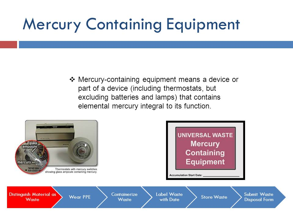 Mercury Containing Equipment
