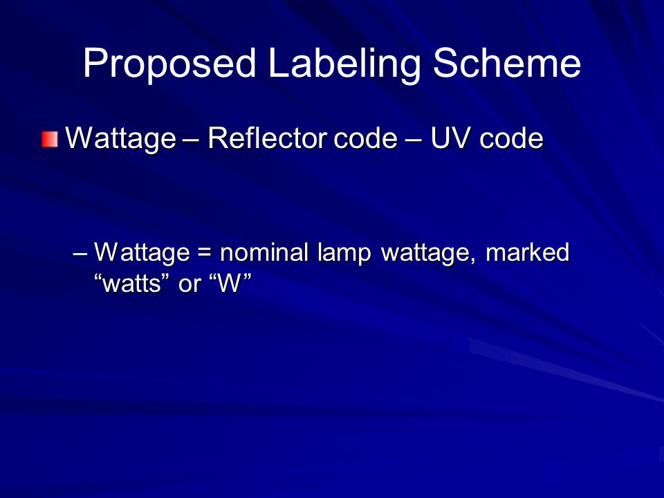 Proposed Labeling Scheme