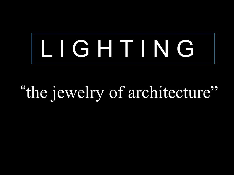 the jewelry of architecture