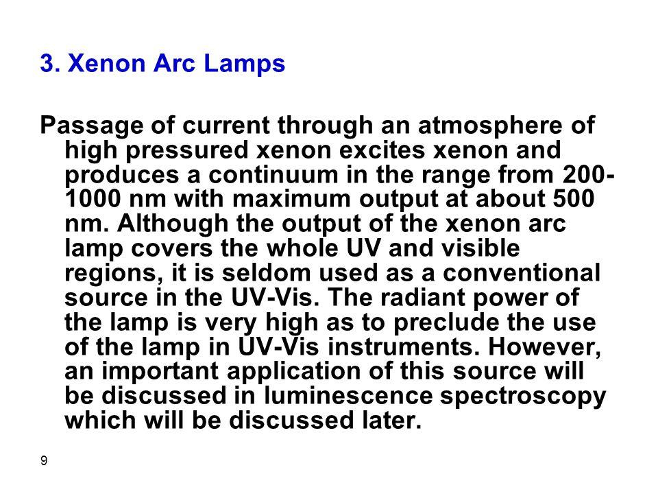 3. Xenon Arc Lamps