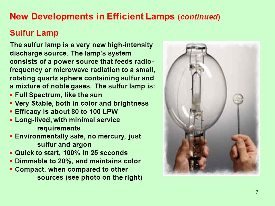 New Developments in Efficient Lamps (continued)