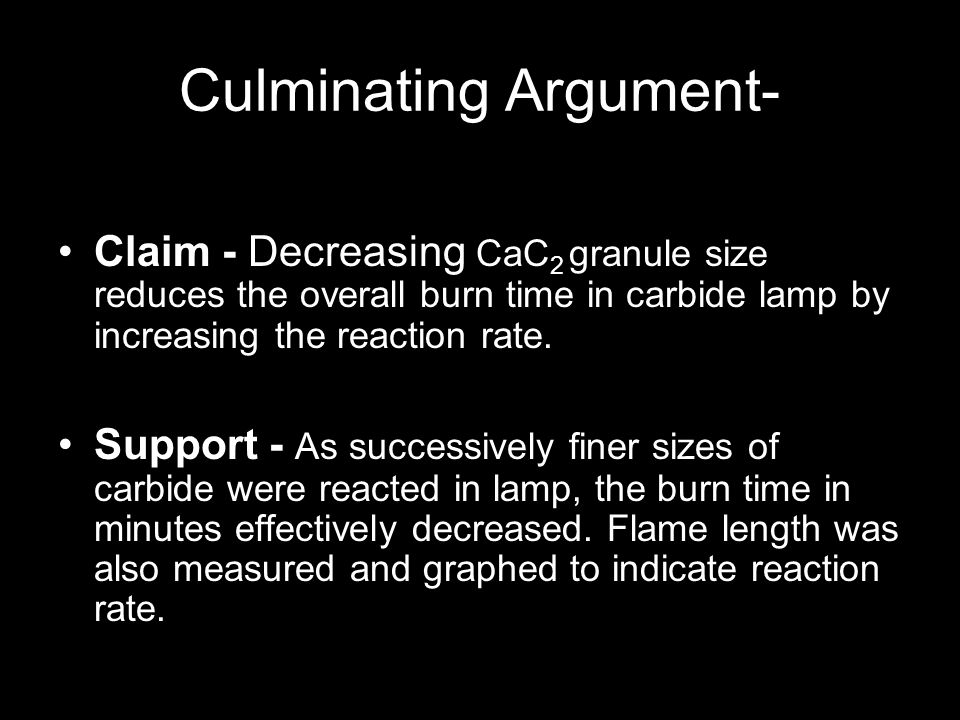 Culminating Argument-
