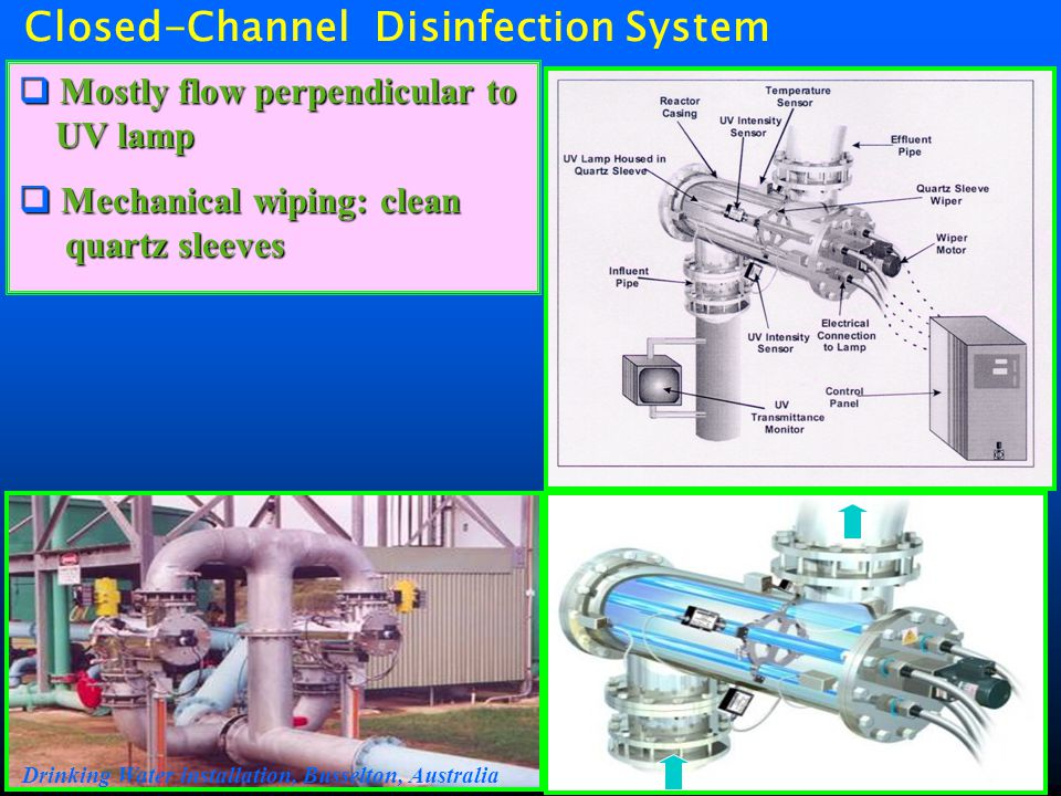 Closed-Channel Disinfection System