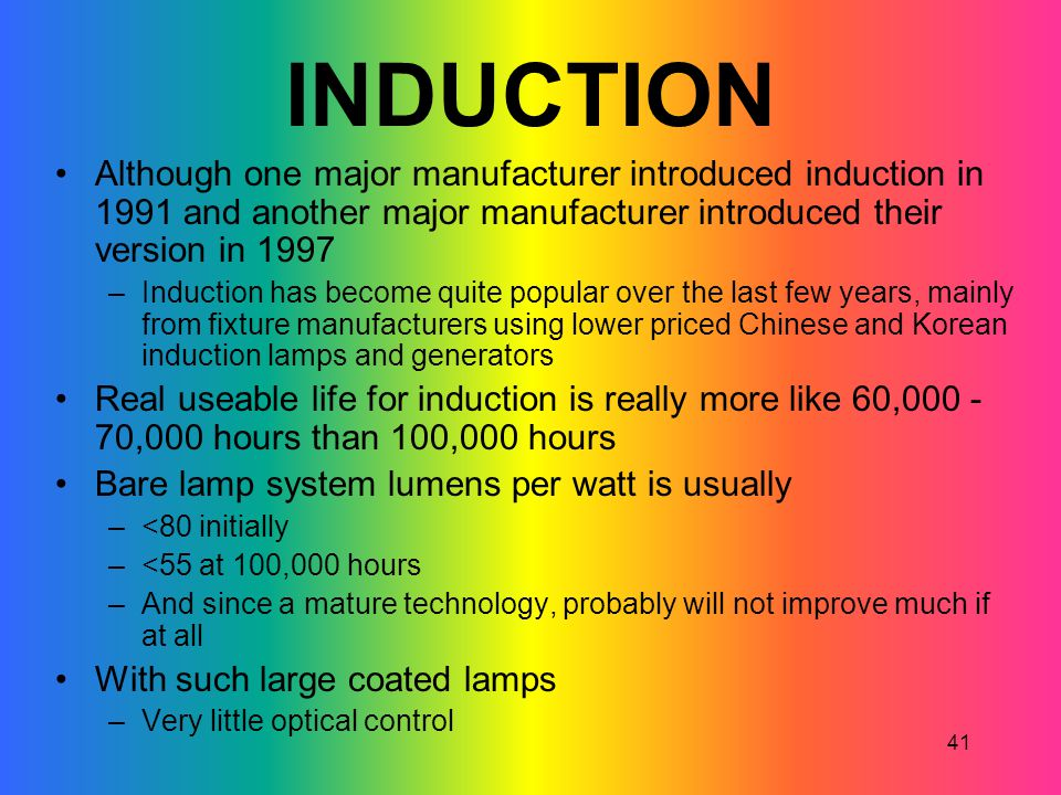 INDUCTION Although one major manufacturer introduced induction in 1991 and another major manufacturer introduced their version in 1997.