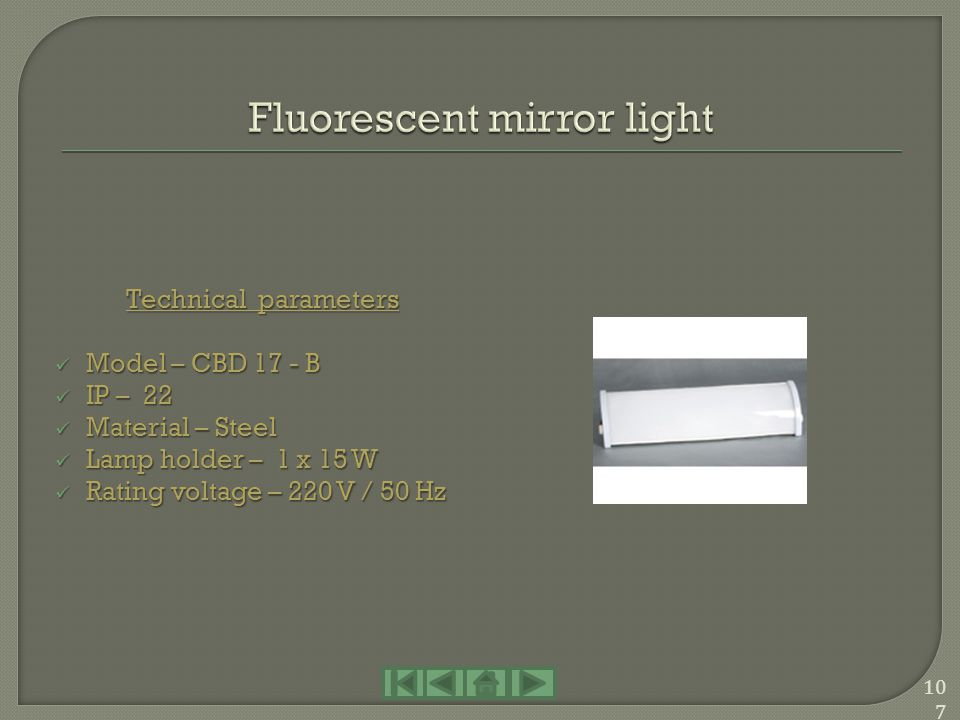 Fluorescent mirror light