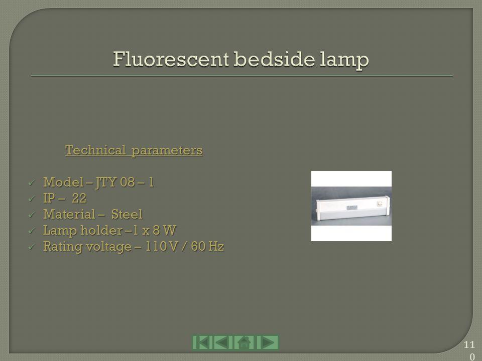 Fluorescent bedside lamp