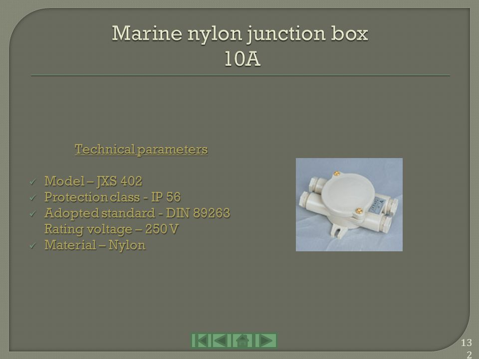 Marine nylon junction box 10A