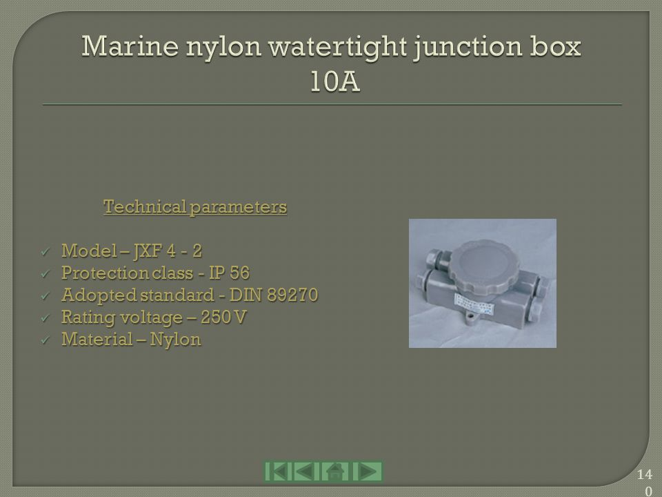 Marine nylon watertight junction box 10A