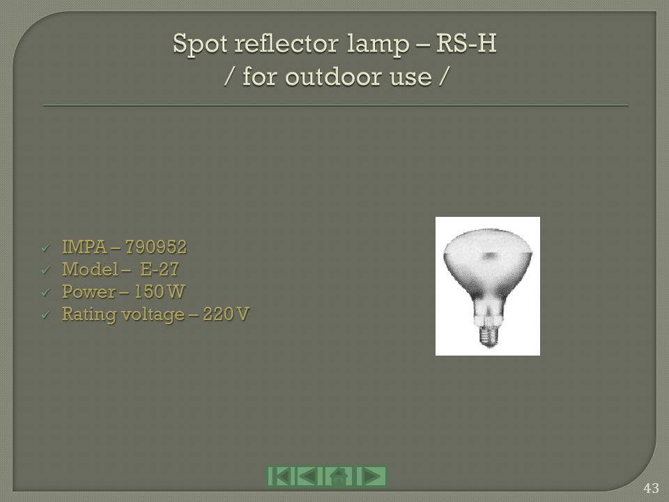 Spot reflector lamp – RS-H / for outdoor use /