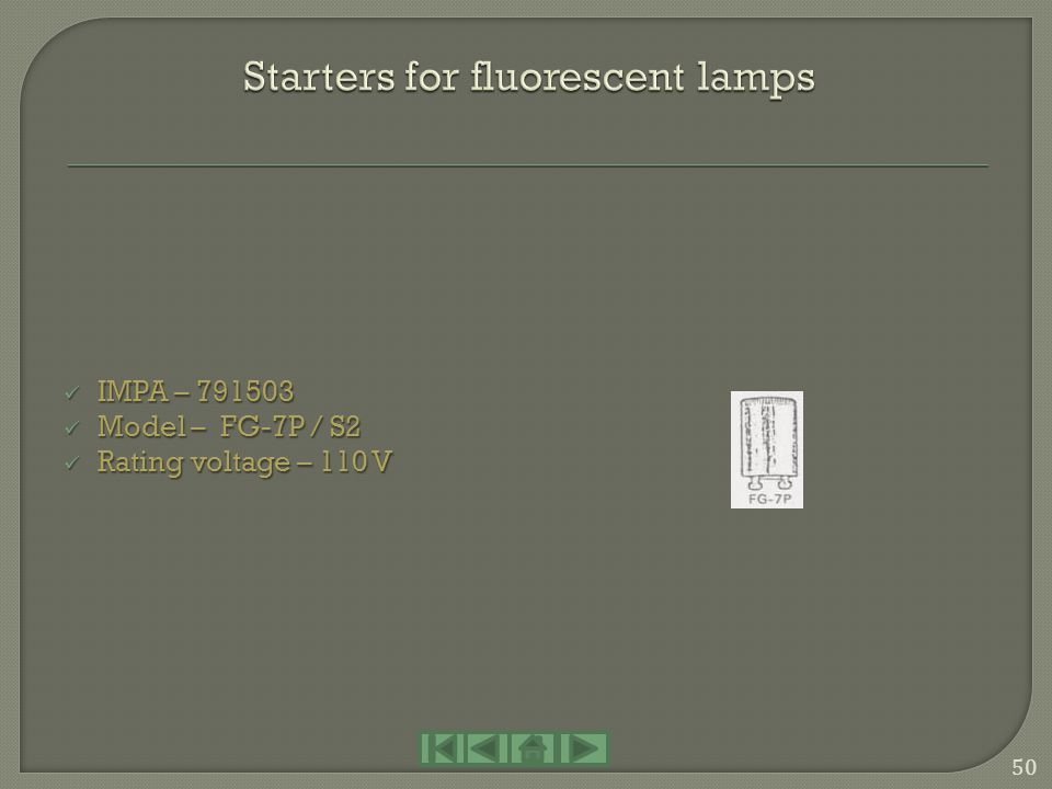 Starters for fluorescent lamps