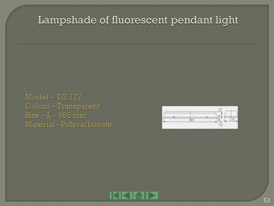 Lampshade of fluorescent pendant light