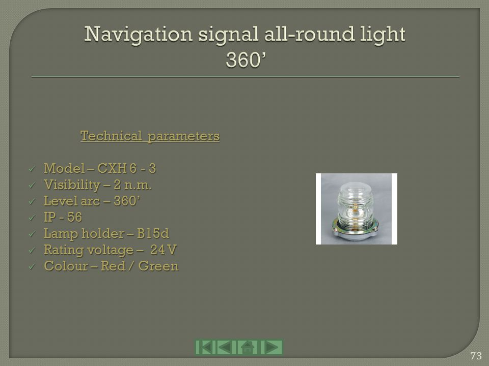 Navigation signal all-round light 360'