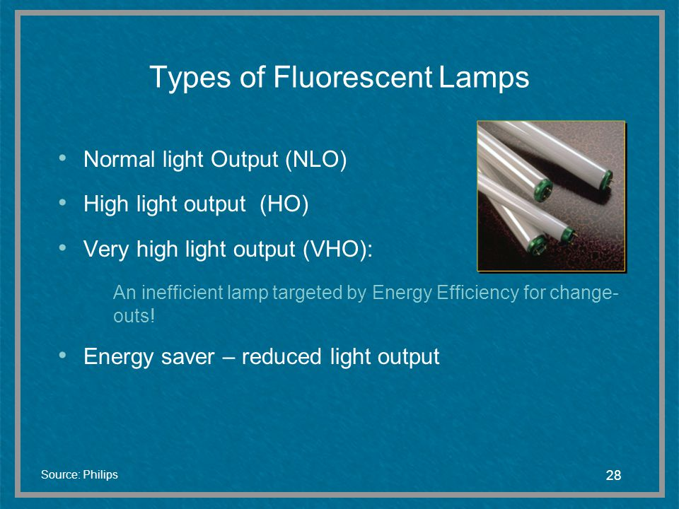 Types of Fluorescent Lamps