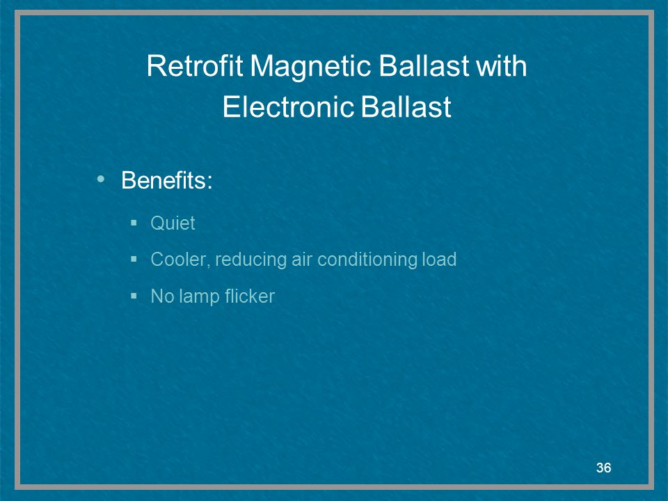 Retrofit Magnetic Ballast with Electronic Ballast